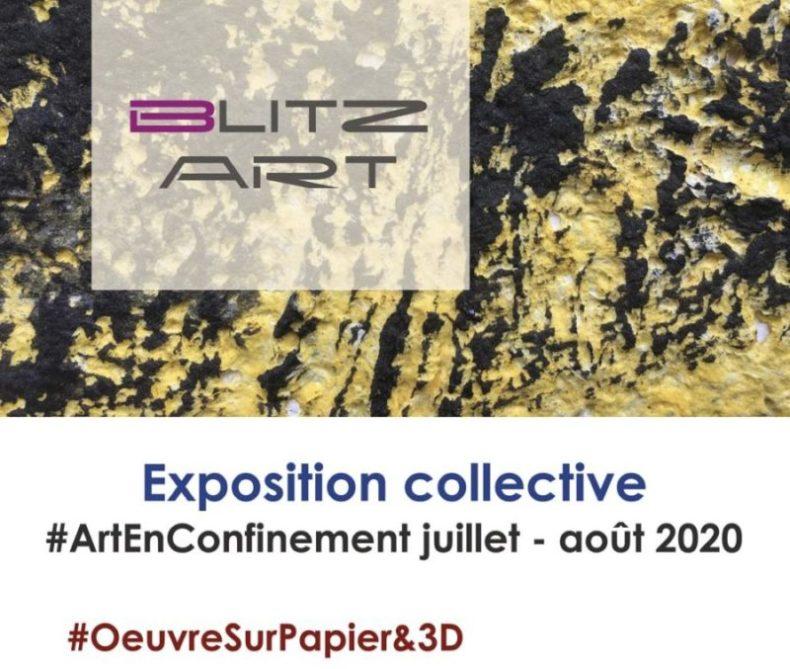 """Invitation d'exposition Art En Confinement """"Oeuvres sur papier & 3D"""" - 2020"""