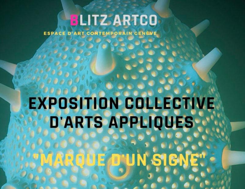 """Invitation d'exposition """"Marque d'un signe"""""""