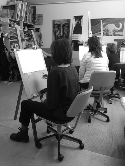 cours de dessin avec model copie